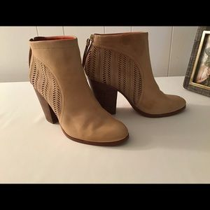 Coach Honey Leather Ankle Booties